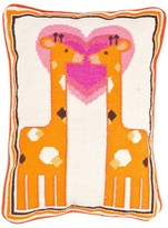 Jonathan Adler Giraffe Needlepoint Pillow