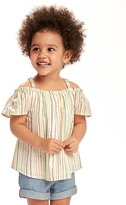 Old Navy Off-the-Shoulder Striped Top for Toddler