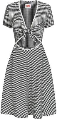 Solid & Striped Gingham Daisy Cut-Out Dress