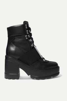 Roger Vivier Utility Embellished Leather Ankle Boots - Black