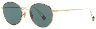 AHLEM L'Alma 22kt Rose Gold-plated Round-frame Sunglasses