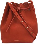 Mansur Gavriel mini bucket bag - women - Suede - One Size