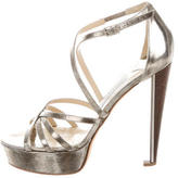 Jimmy Choo Multistrap Platform Sandals