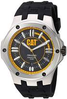 Caterpillar Cat Men's Quartz Watch with Black Dial Analogue Display and Black Rubber Strap A1.141.21.127