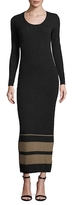 James Perse Cashmere Striped Sheath Dress