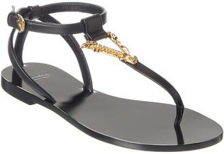 Versace Virtus Leather Sandal