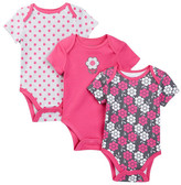 Offspring Geometric Floral Bodysuit Set (Baby Girls)