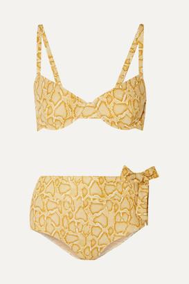 Faithfull The Brand Lila Snake-print Bikini - Snake print