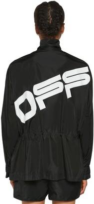 Off-White Logo Nylon Track Jacket