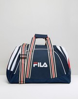 Fila Vintage Rocco Holdall In Navy