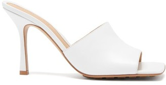Bottega Veneta Square-toe Leather Mule Sandals - White