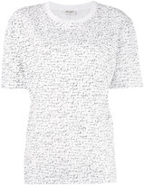 Saint Laurent slogan embroidered T-shirt - women - Cotton - M