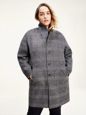 Tommy Hilfiger Curve Reversible Wool Blend Coat