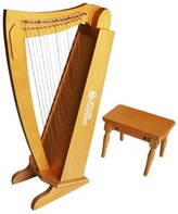 The Well Appointed House Schoenhut 15 String Harp with Bench in Cherry for Kids - ON BACKORDER AS OF 12/2/16