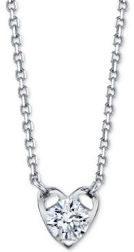 """Sirena Diamond Heart 18"""" Pendant Necklace (1/5 ct. t.w.) in 14k White Gold"""