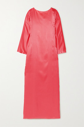 BERNADETTE Katy Silk-satin Maxi Dress - Papaya