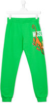 Moschino Kids - monkey joggers - kids - Cotton - 14 yrs