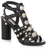 Balenciaga Block Heel Strap Sandals