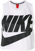 Nike cropped logo tank top