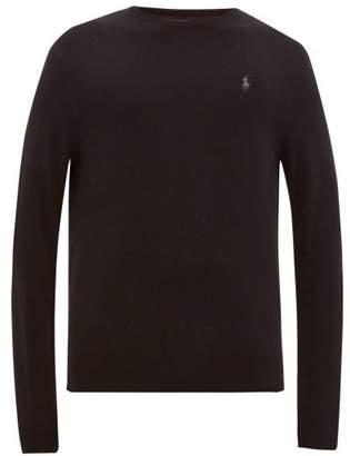Polo Ralph Lauren Logo Embroidered Merino Wool Sweater - Mens - Black