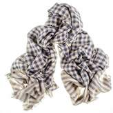 Black Jermyn Merino Wool and Silk Scarf