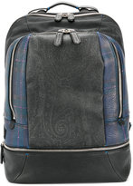 Etro plaid print backpack - men - Cotton/Polyester/Polyurethane/PVC - One Size
