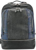 Etro plaid print backpack
