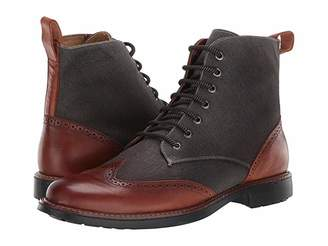 Massimo Matteo Wing Tip Boot Mixed Material
