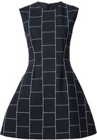 Christian Siriano check print structured dress