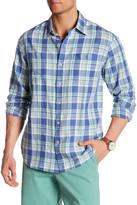 Tommy Bahama Maduro Plaid Long Sleeve Regular Fit Shirt