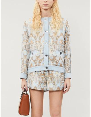 Sandro Orcan paisley-print woven jacket
