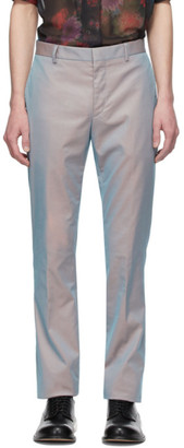 Givenchy Orange and Grey Iridescent Skinny Trousers