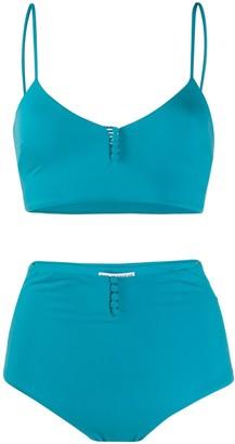 Sian Swimwear Frida buttoned bikini set