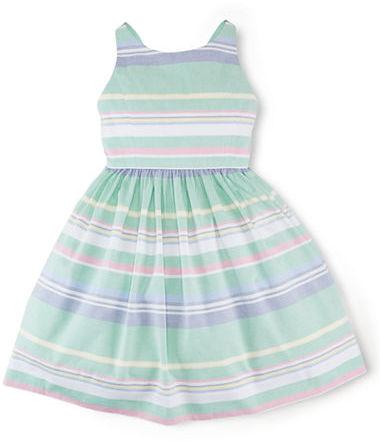 Ralph Lauren Girls 7-16 Cotton Oxford Dress