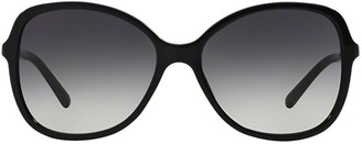 Burberry Eyewear Round Cat Eye Frame Sunglasses