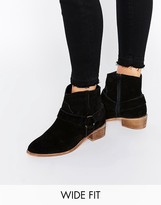 Asos ANYA Wide Fit Suede Flat Boots