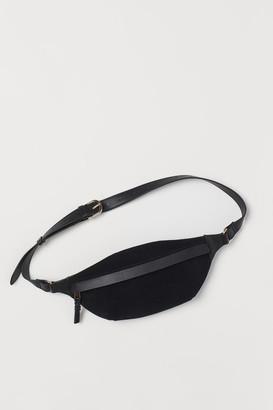H&M Suede-detail Belt Bag - Black
