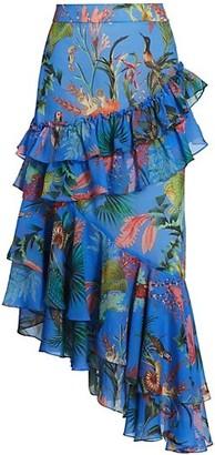 PatBO Oasis Ruffle Midi Skirt