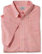 L.L. Bean L.L.Bean Wrinkle-Free Vacationland Sport Shirt, Traditional Fit Short-Sleeve Gingham