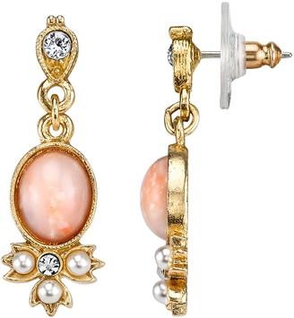 Downton Abbey Cabochon Drop Earrings