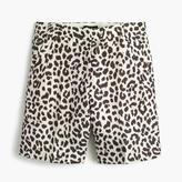 J.Crew Linen bermuda short in leopard print