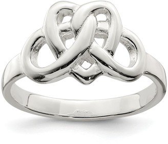 Sterling Silver Solid Polished 2mm Fancy Celtic Ring by Versil