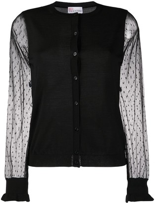 RED Valentino Tulle Sleeves Cardigan