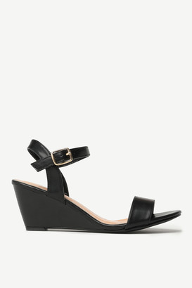 Ardene Faux Leather Wedge Sandals