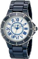 A Line a_Line Women's 20040-NBWSR Marina Blue Ceramic Watch with Link Bracelet