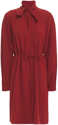See by Chloe Tie-neck Stretch-crepe Dress