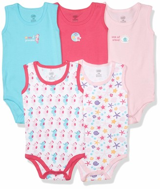 Luvable Friends Unisex Baby Cotton Sleeveless Bodysuits