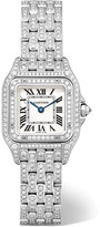 Cartier Panthère De Small 18-karat Rhodiumized White Gold Diamond Watch - one size