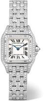 Cartier Panthère De Small 18-karat Rhodiumized White Gold Diamond Watch - one size