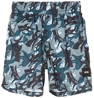 Vans Kids Mixed Volley (Toddler/Little Kids/Big Kids) (Shark Camo) Boy's Swimwear